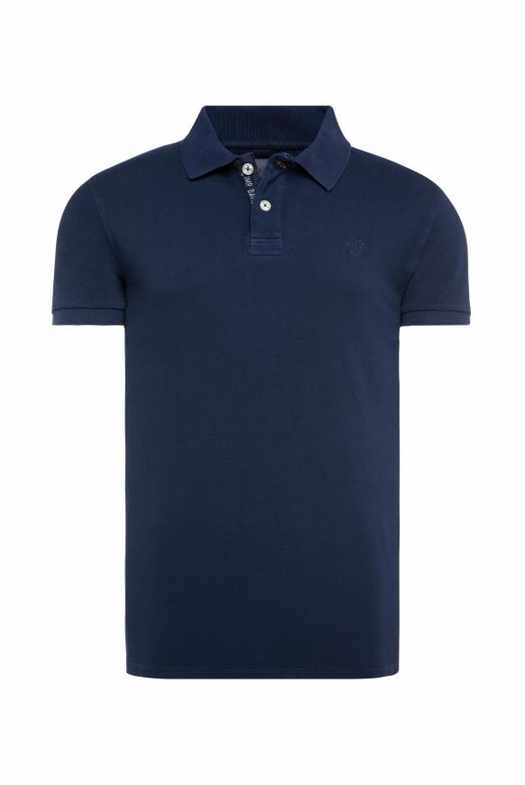Piquee-Polo mit Used-Waschung absolute blue