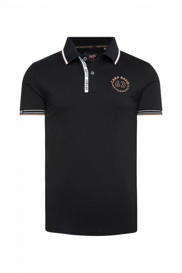 Poloshirt aus Pikee mit Logo Artworks black
