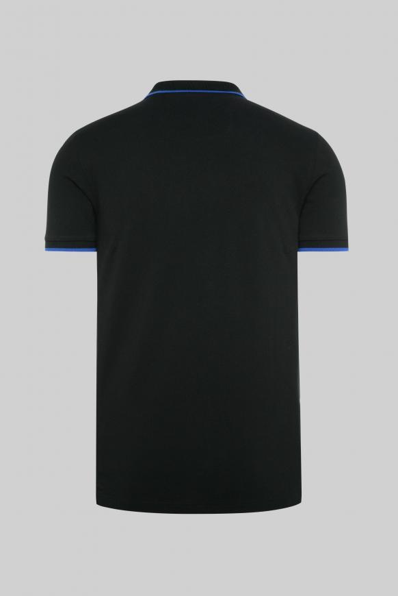 Poloshirt aus Pikee mit Logo Puff Print black