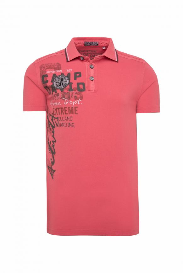 Poloshirt aus Pikee mit Rücken-Artwork powder red