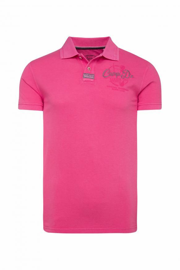 Poloshirt aus Pikee mit Rücken-Print punch