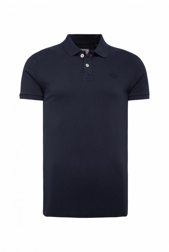 Poloshirt aus Pikee mit tonigem Logostick absolute blue