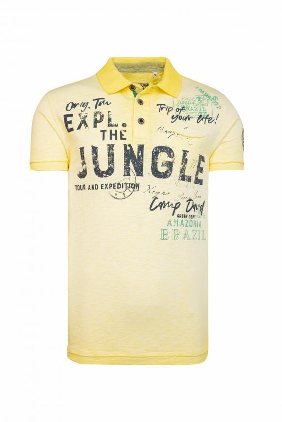 Poloshirt im Vintage Style mild yellow