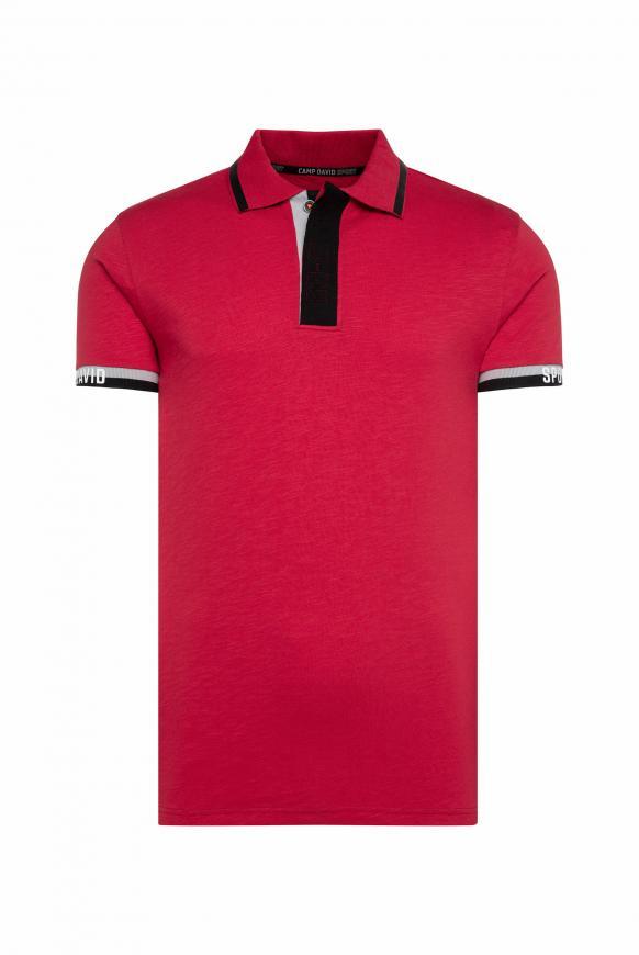 Poloshirt mit Folien-Prints bright red