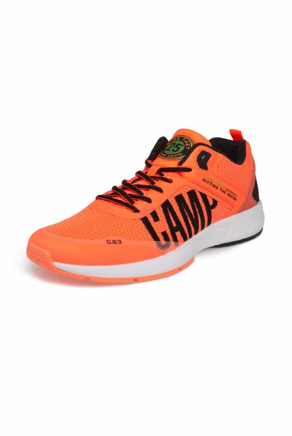 Power Sneaker mit Strick-Struktur und Logo speed orange