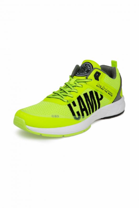 Power Sneaker mit Strick-Struktur und Logo neon yellow