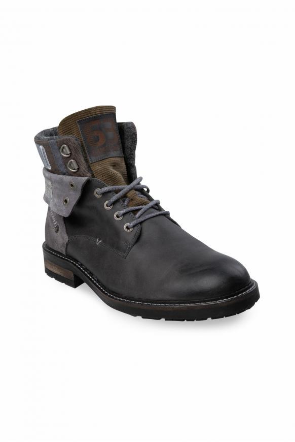 Premium Boots aus Leder anthracite