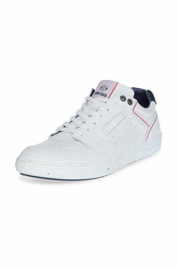 Premium Sneaker aus perforiertem Leder opticwhite