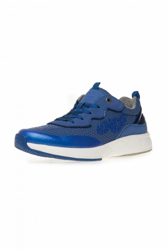 Premium Sneaker im Metallic Look metallic blue