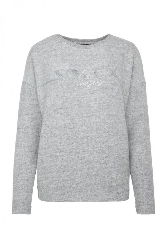 Pullover Melange mit Glitter Logo grey melange