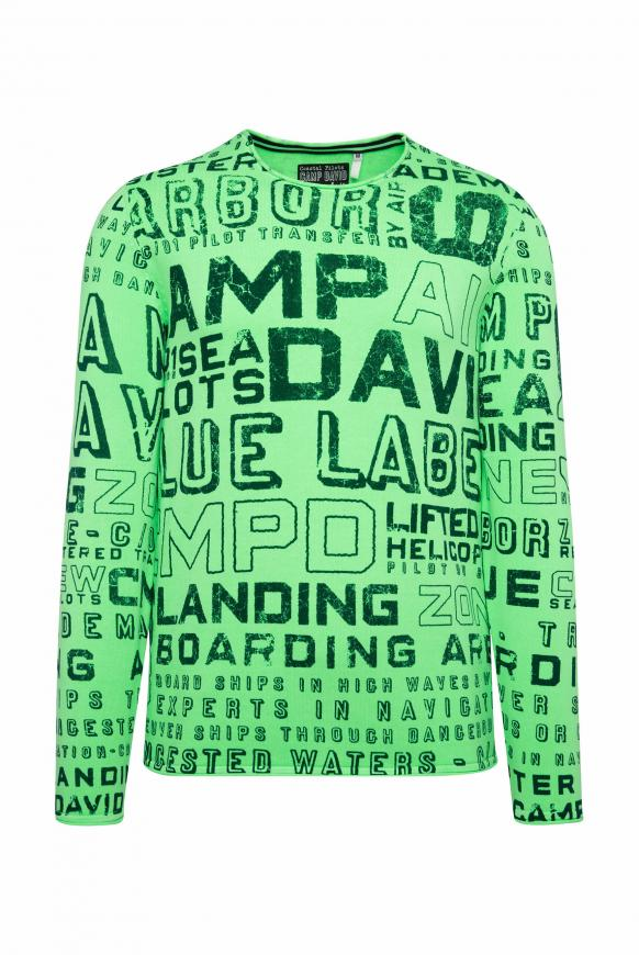 Pullover mit All Over Print neon green
