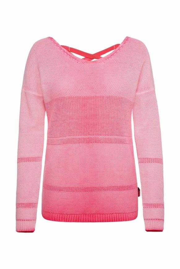 Pullover mit Schnürung am Rücken oriental pink