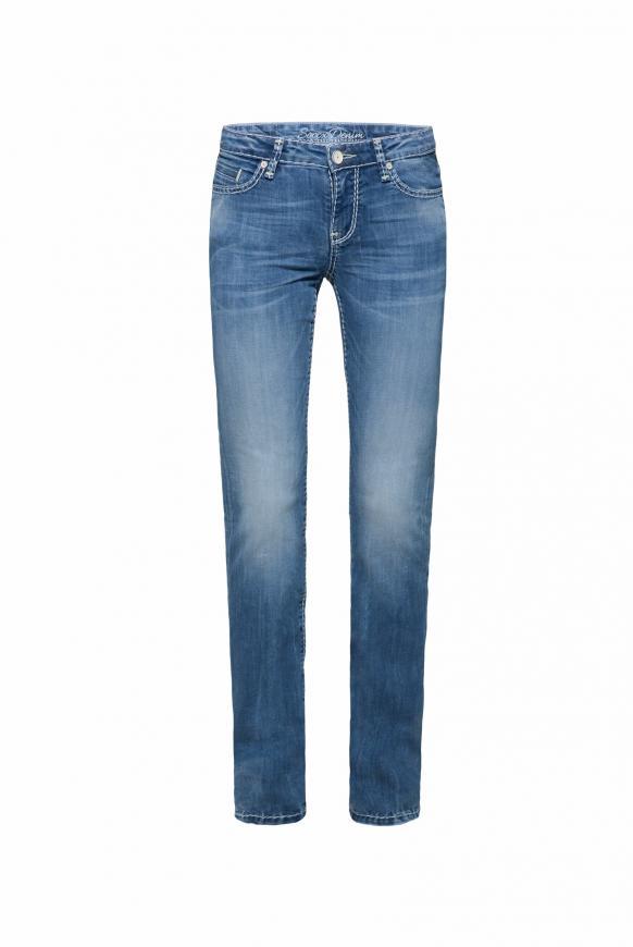 Regular Fit Jeans RO:MY im leichten Destroy-Look stone used