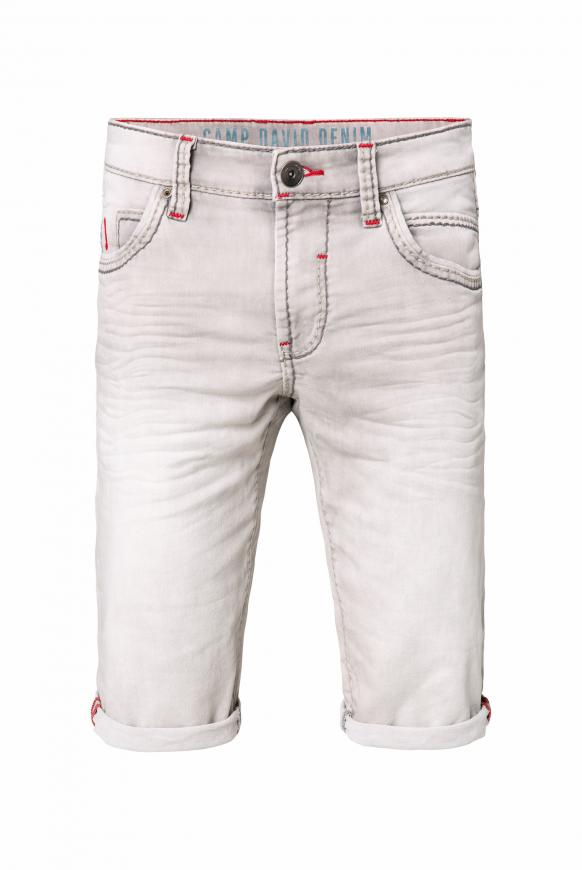 RO:BI Skater Shorts aus Jogg Denim light grey used