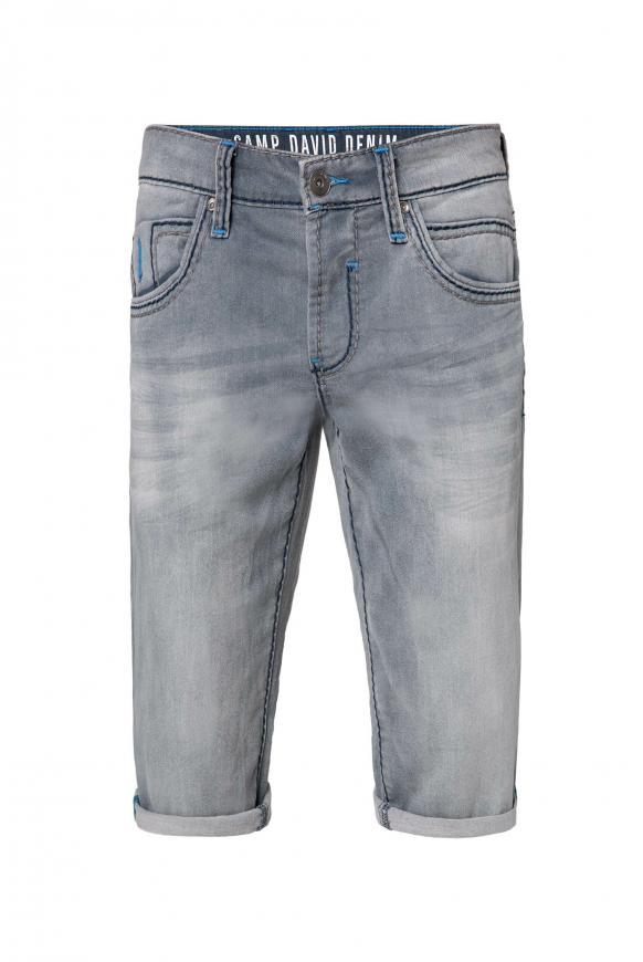 RO:BI Skater Shorts aus Jogg Denim vintage grey