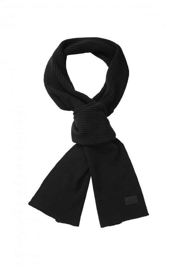 Schal mit Rippmuster black