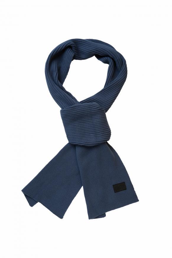 Schal mit Rippmuster blue haze