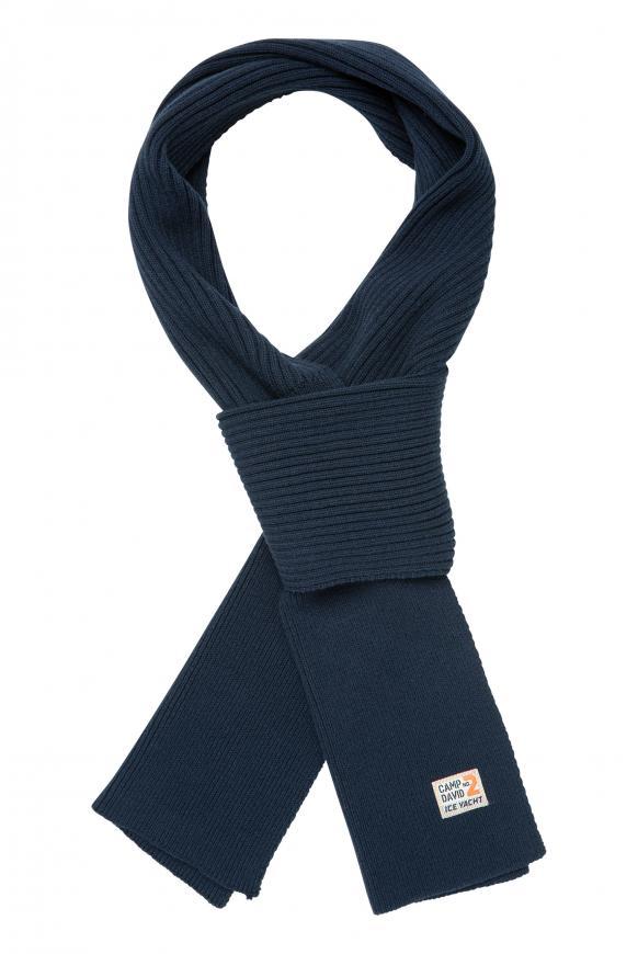 Schal mit Rippstrickmuster blue navy