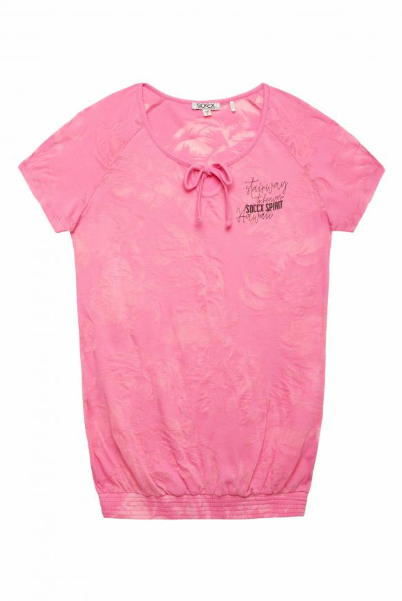 Shirt mit Ausbrenner-Muster lush rose