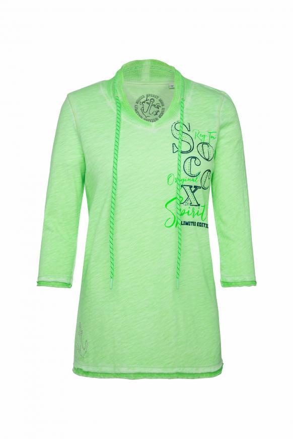 Shirt mit Mesh-Details und Rücken-Print lime punch