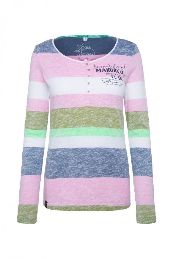 Shirt mit Streifen-Print und Rücken-Artwork multi color