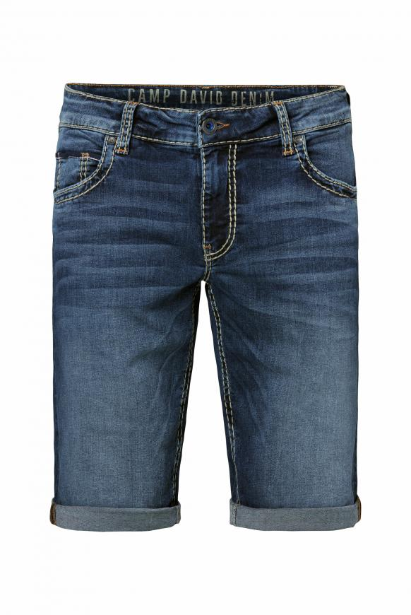 Skater Jeans CO:NO mit Vintage-Waschung dark used