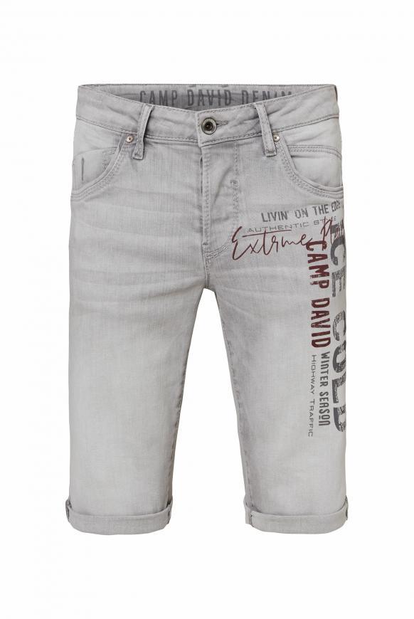 Skater Jeans RO:BI mit Used Print grey used
