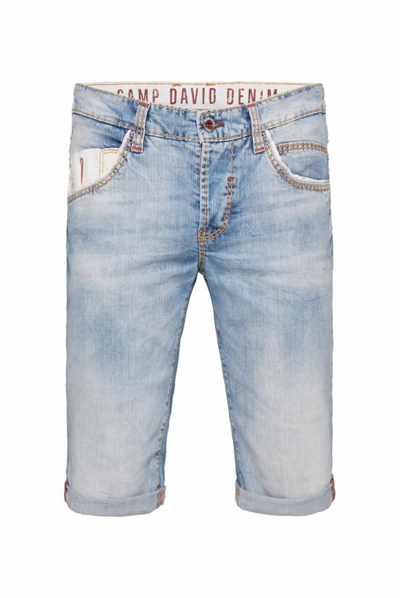 Skater Jeans Shorts RO:BI mit Twill-Details light blue used