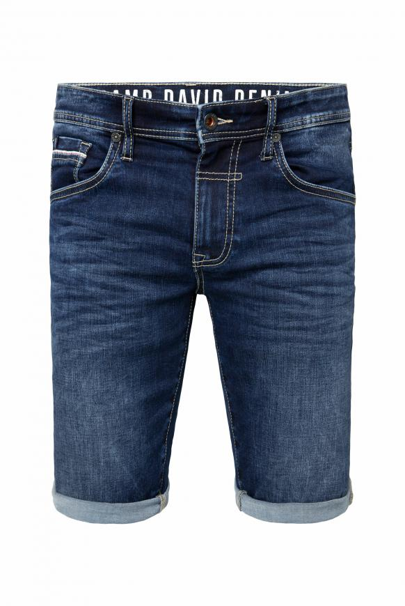 Skater Shorts DA:VD mit Used-Effekten blue vintage