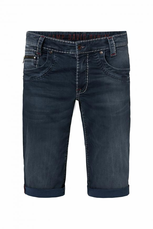 Skater Shorts NI:CK mit breiten Steppnähten blue grey