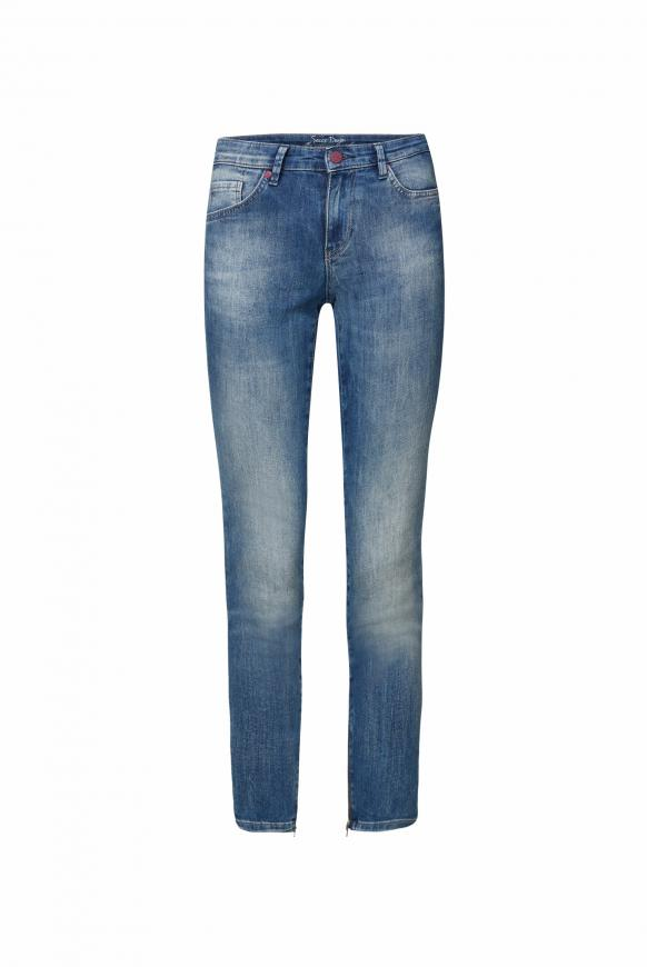 Slim Fit Jeans MI:RA mit Label Prints hinten vintage blue printed