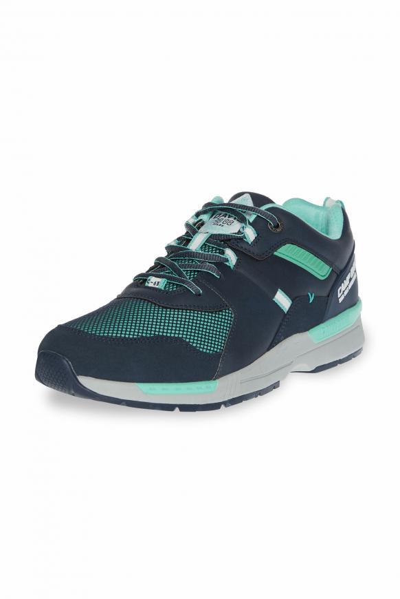 Sneaker im sportiven Materialmix blue navy