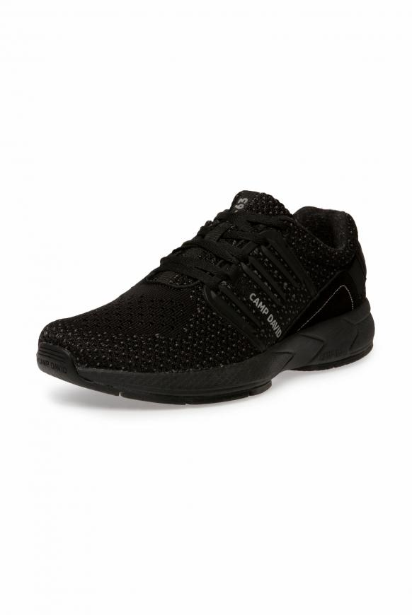 Sneaker mit Strick-Struktur und Power-Sohle black