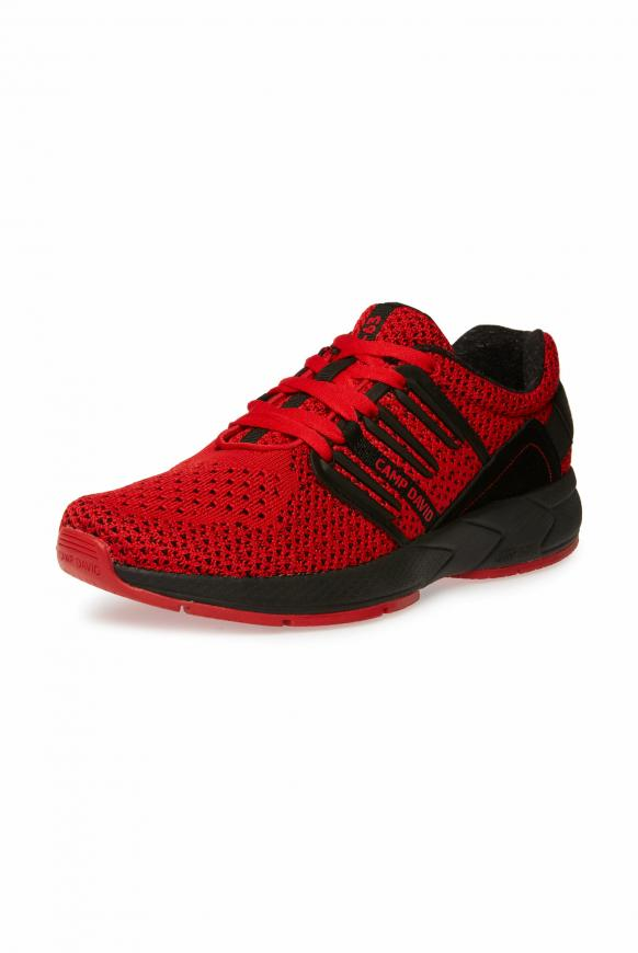 Sneaker mit Strick-Struktur und Power-Sohle red
