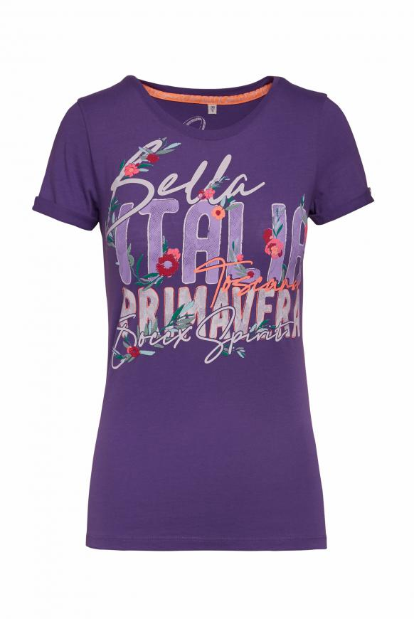 Softes T-Shirt mit Frontprint bright purple