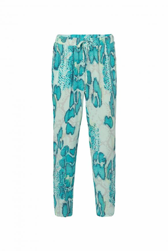 Sommerhose mit All Over Print bright mint