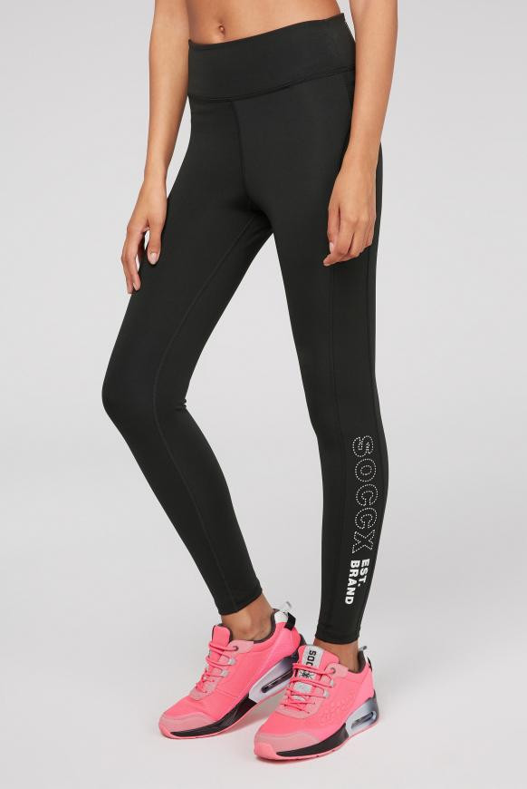 Sport-Leggings mit Print Artwork black