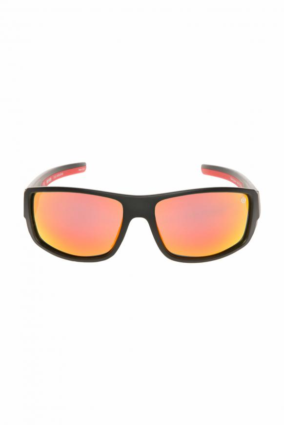 Sport-Sonnenbrille polarisiert black / red / mirror
