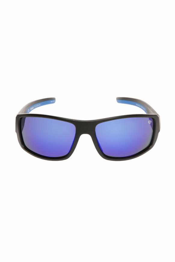 Sport-Sonnenbrille polarisiert black / blue / mirror