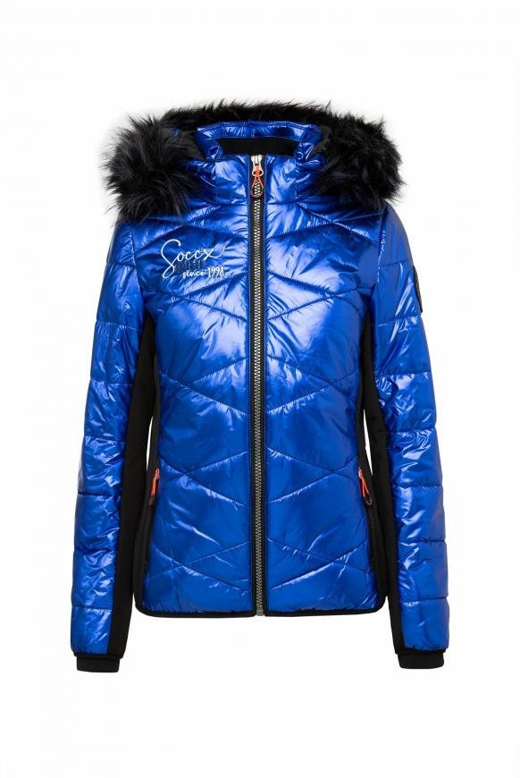Steppjacke im Ski-Design mit Metallic Look metallic blue
