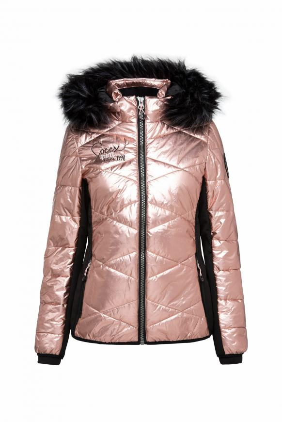 Steppjacke im Ski-Design mit Metallic Look metallic powder