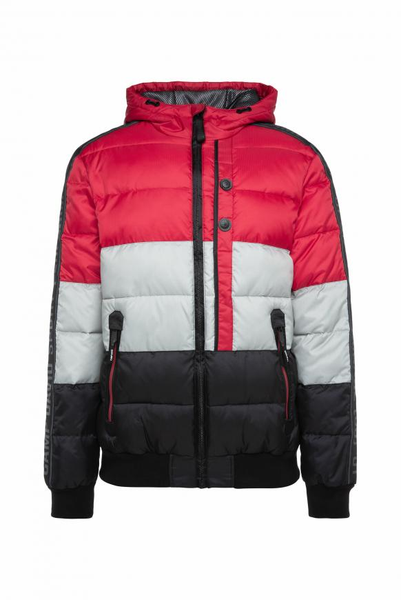 Steppjacke mit Kapuze und Colour Design bright red