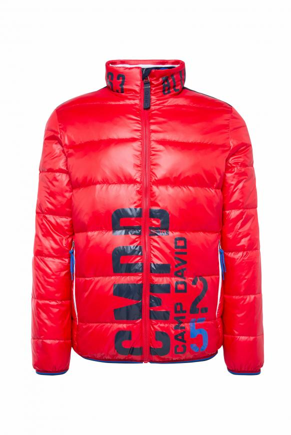 Steppjacke mit Logo Print speed red