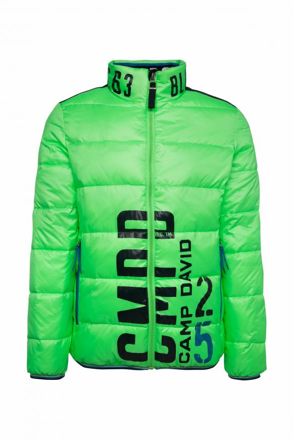 Steppjacke mit Logo Print neon green