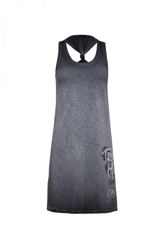 Strandkleid mit Knoten-Detail am Rücken anthra