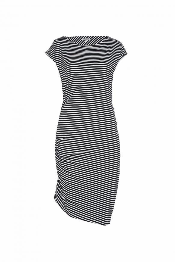 Streifenkleid mit Raffung und Rücken-Print opticwhite / blue navy