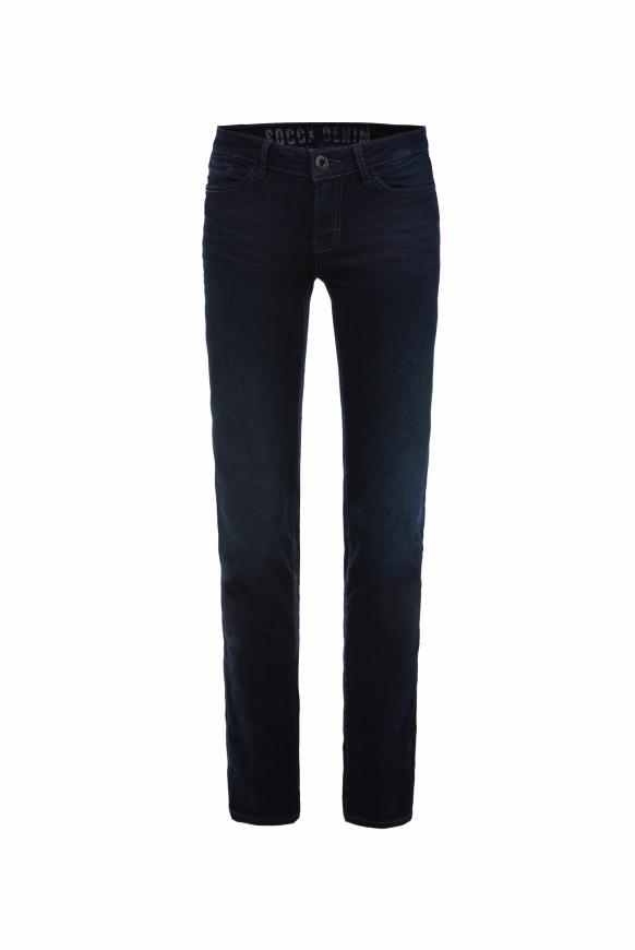Stretch-Jeans RO:MY mit geraden Beinverlauf blue black used