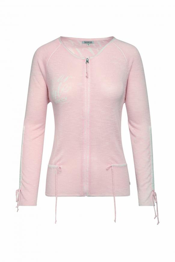 Strickjacke mit Acid Prints pale rose