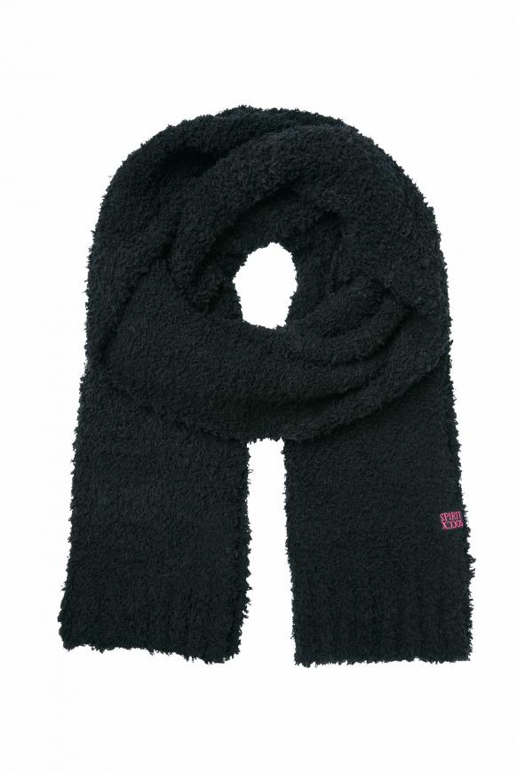 Strickschal in Sherpa-Optik black