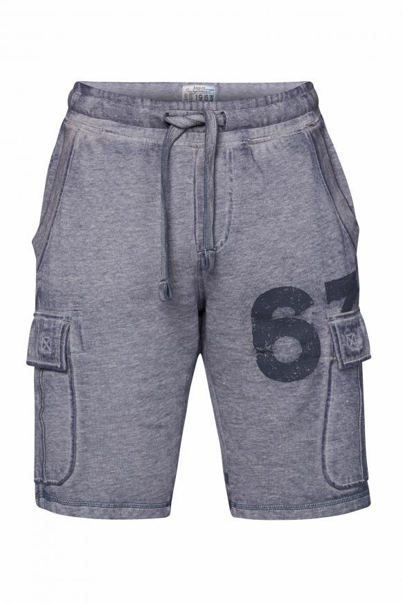 Sweat Cargo Shorts mit Ausbrennern dusty blue